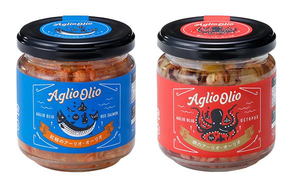 「紅鮭のアーリオ・オーリオ」「蛸のアーリオ・オーリオ」